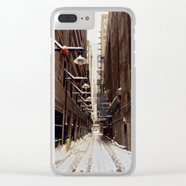 Chicago Winter Alley Clear iPhone Case