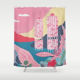 Marina City - Chicago - Modernist Architectur Shower Curtain
