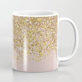 Pink and Gold Glitter Coffee Mug