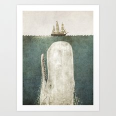 The Whale - vintage option Art Print