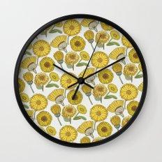 Calendula Florals Wall Clock