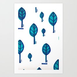 Standing Leaf Print Close Up Art Print