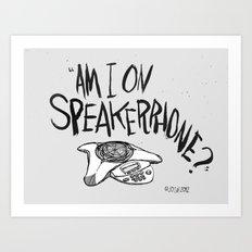 SPKRPHN Art Print