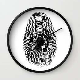 Mark of a great detective Wall Clock