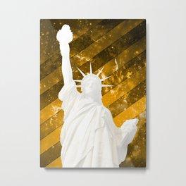 Liberty Gold Pop Art Metal Print
