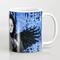 edgar allan poe Mugs featuring Nevermore - Edgar Allan Poe by Danielle Tanimura