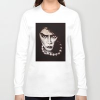 "rocky horror Long Sleeve T-shirts featuring Rocky Horror Picture Show ""Sweet Transvestite"" by Kristin Frenzel"