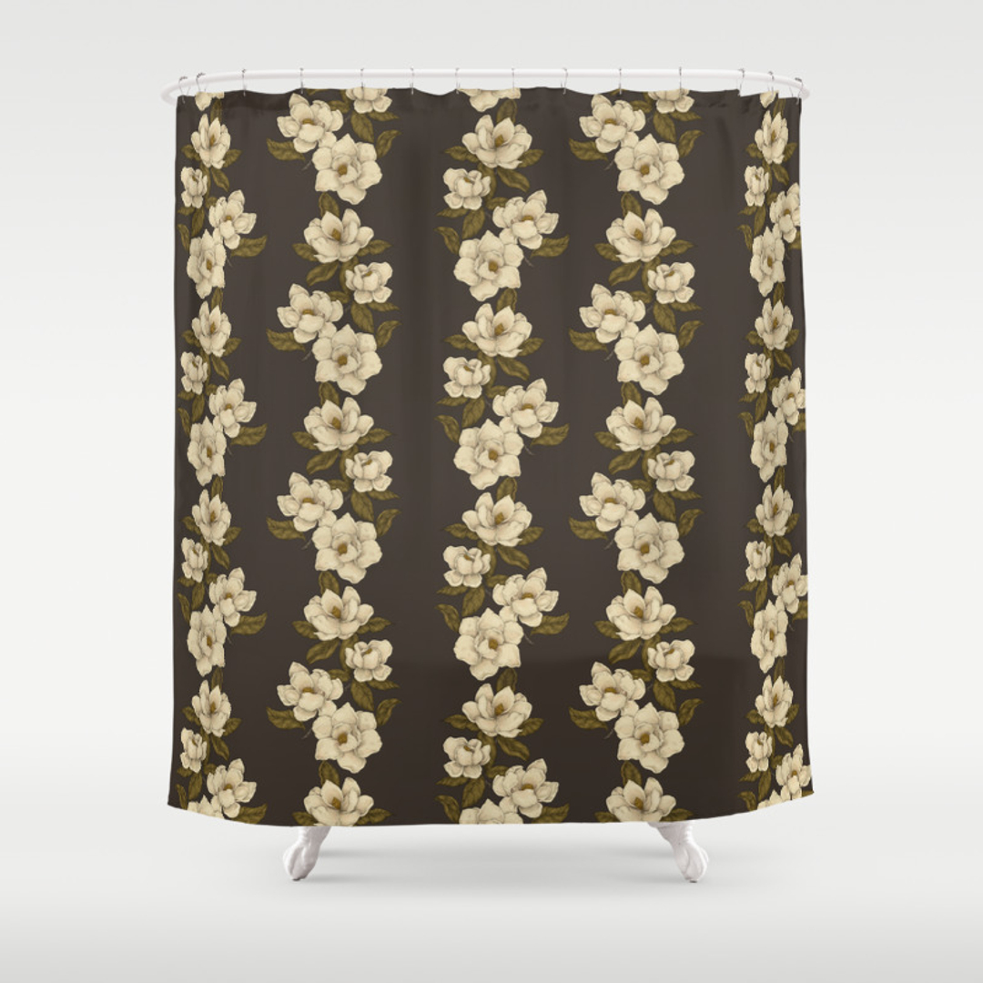 magnolia shower curtains society6. Black Bedroom Furniture Sets. Home Design Ideas