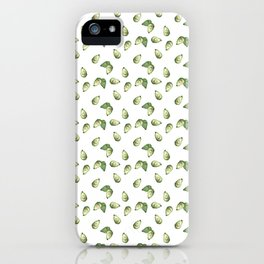 Watercolour Avocado Pattern iPhone Case