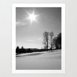 Snow Scape III Art Print