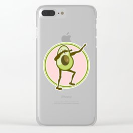 Avocado Dabbing Clear iPhone Case
