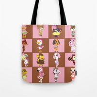 animal crossing Tote Bags featuring Animal Crossing: Chocolate Strawberry by Square Aquarium