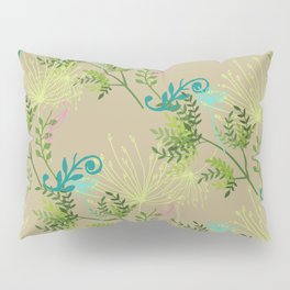 Botanical with Henna Border Pillow Sham