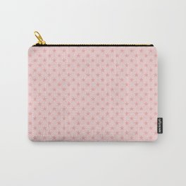 Blush Pink Stars on Light Blush Pink Carry-All Pouch