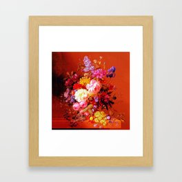 Passion Fruits and Flowers Framed Art Print
