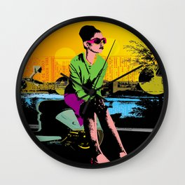 Waiting for marcello Wall Clock