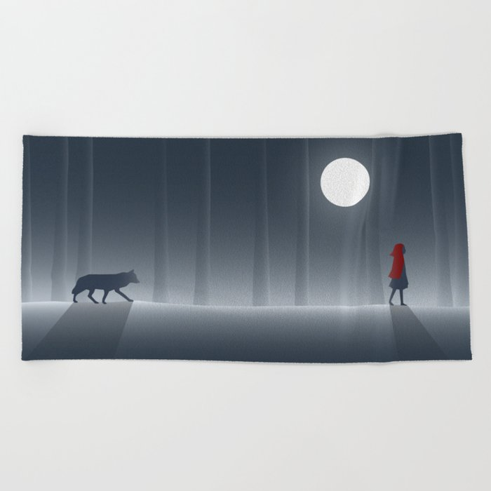 Little Red Riding Hood Beach Towel