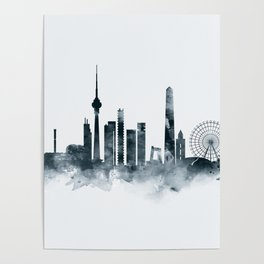 Beijing Skyline Poster