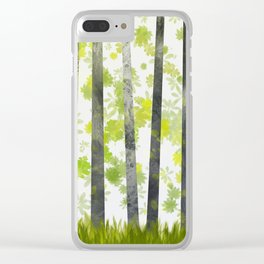 Trees, herbs and leaves in the forest Clear iPhone Case