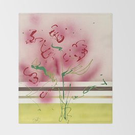 Modern Botanicals Throw Blanket