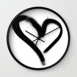 Spray Paint Heart Street Art Wall Clock