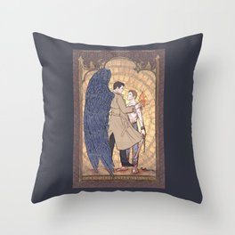 Angelic Intervention (Dean Winchester is Saved) Throw Pillow