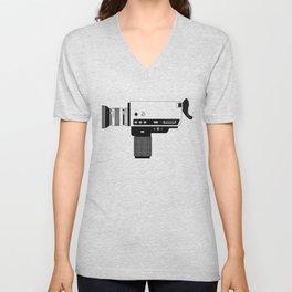 Super 8 Vintage Camera Unisex V-Neck