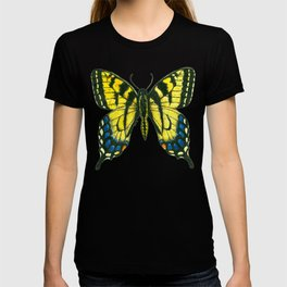 Tiger swallowtail butterfly watercolor and ink art, watercolor butterfly, eastern tiger swallowtail T-shirt