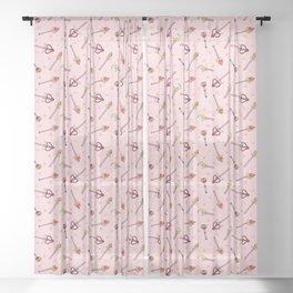 Sailor Moon Wands Sheer Curtain