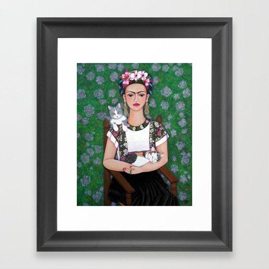Frida cat lover by madalenalobaotello