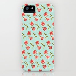 folk flower iPhone Case