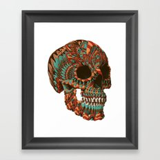 Ornate Skull (Color Version) Framed Art Print