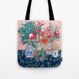 The Domesticated Jungle - Floral Still Life Tote Bag