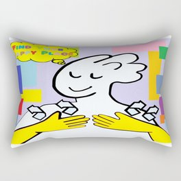 ASL Find Your Happy Place Rectangular Pillow