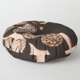 Delicious Oreo cookies in the sunlight Floor Pillow