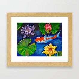Koi Joy Framed Art Print