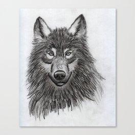 Wolf // #ScannedSeries Canvas Print