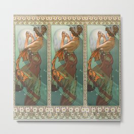 "Alphonse Mucha ""The Moon and the Stars Series: The Pole Star"" Metal Print"