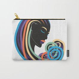 Tangle of color - black beauty Carry-All Pouch