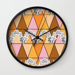 Lace Mosaic Print Wall Clock