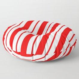 Peppermint Stripes Floor Pillow
