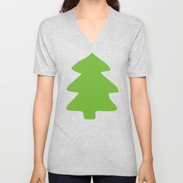 Evergreen Forest Pattern Unisex V-Neck