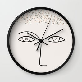 Lots on my mind Wall Clock