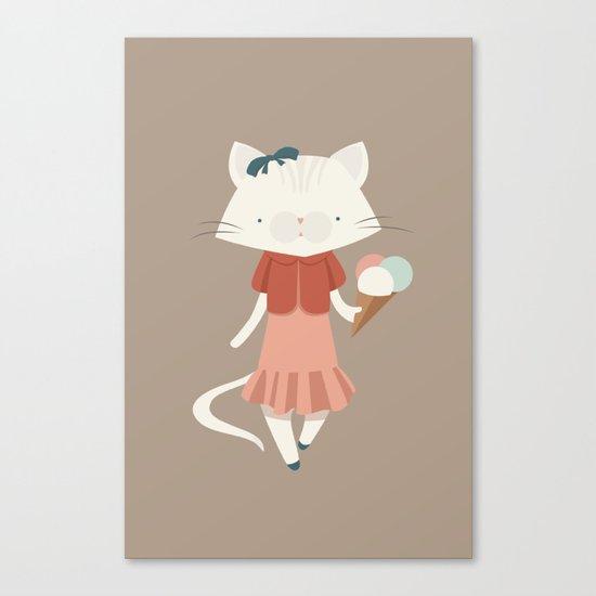 Ice kitty Canvas Print