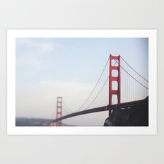 Golden Gate at dusk Art Print