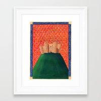 federico babina Framed Art Prints featuring Castel del Monte - L'Epoca di Federico II by Francesca Cosanti