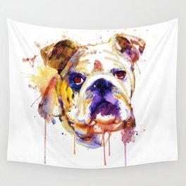 English Bulldog Head Wall Tapestry