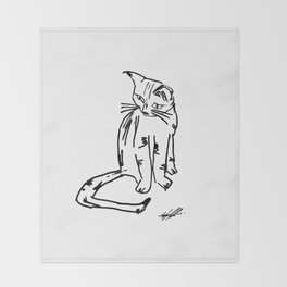 Alien Cat Throw Blanket