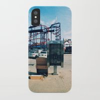 monkey island iPhone & iPod Cases featuring Coney Island by The Clutter Monkey