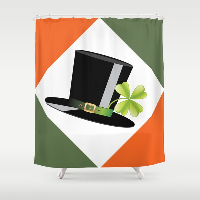 Hat with shamrock Shower Curtain by annartshock | Society6